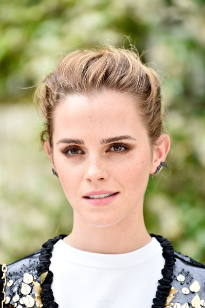 Emma Watson rocked a messy-cool updo at the 'Circle' photocall in Paris.