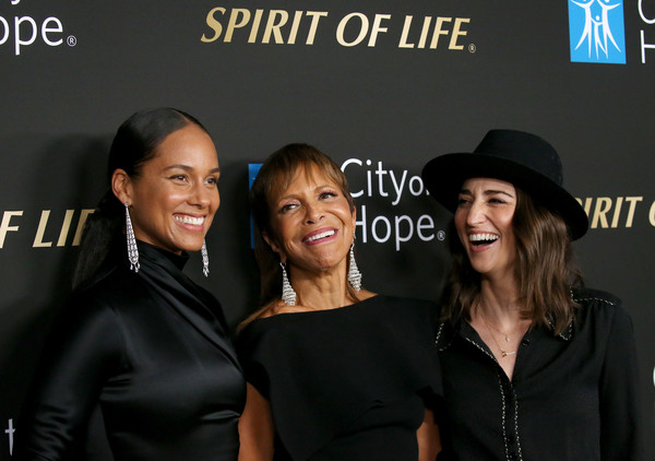 More Pics of Sara Bareilles Studded Boots (1 of 10) - Boots Lookbook - StyleBistro [little black dress,event,fashion,premiere,dress,brand,fashion accessory,style,performance,sara bareilles,alicia keys,syliva rhone,spirit of life 2019 gala - arrivals,l-r,spirit of life 2019 gala,the barker hanger,santa monica,california,city of hope]