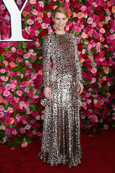 Claire Danes Sequin Dress [red carpet,flooring,gown,pink,dress,carpet,lady,beauty,fashion,red carpet,flower,claire danes,tony awards,radio city music hall,new york city,annual tony awards]