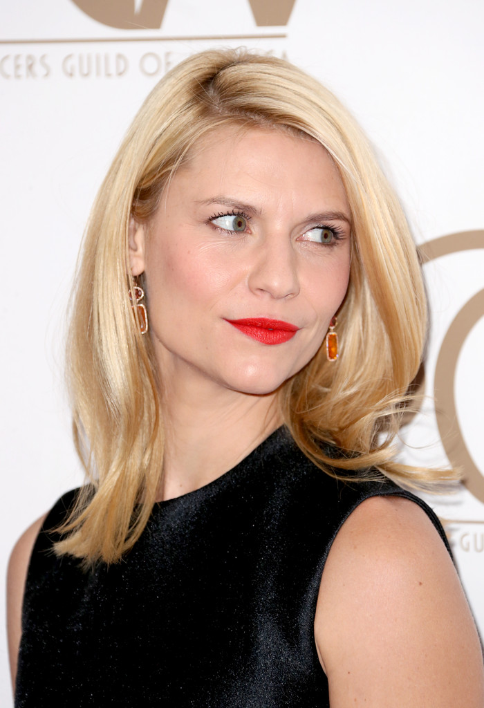 Claire Danes Medium Straight Cut Shoulder Length
