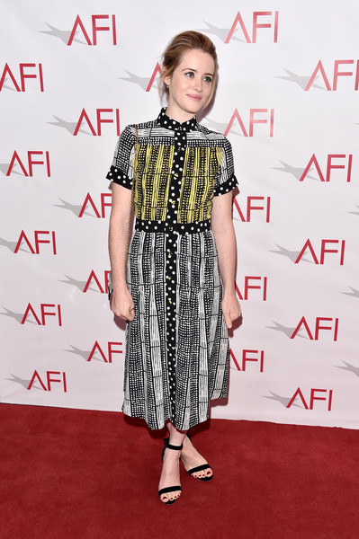 Claire Foy Shirtdress