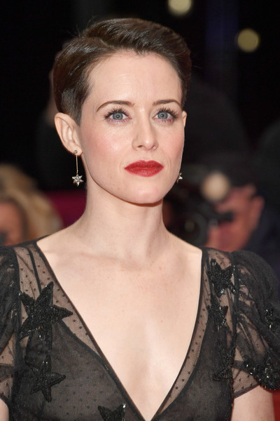 Claire Foy Boy Cut [hair,face,lip,eyebrow,hairstyle,fashion model,beauty,fashion,chin,skin,claire foy,berlinale palast,berlin,germany,unsane,premiere,premiere - 68th berlinale international film festival,berlinale international film festival berlin]