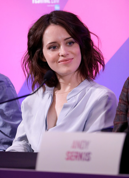Claire Foy Short Wavy Cut [white-collar worker,employment,claire foy,breathe,london,england,breathe press conference,bfi london film festival,press conference]