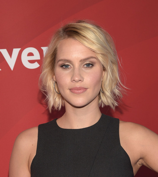 Claire Holt Short Wavy Cut [hair,face,blond,hairstyle,eyebrow,chin,beauty,lip,forehead,shoulder,carpet,claire holt,pasadena,california,langham hotel,nbcuniversal summer press]