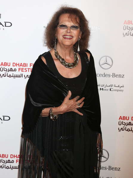 Claudia Cardinale Gold Statement Necklace