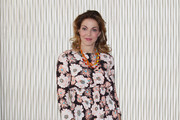 Claudia Gerini Print Dress