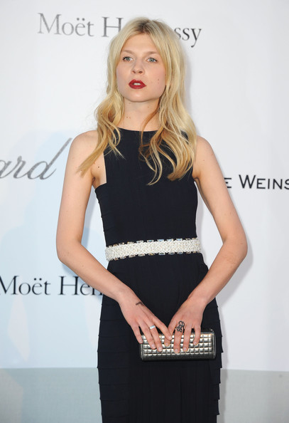 Clemence Poesy Quilted Clutch