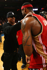 LeBron James Jay-Z Cleveland Cavaliers v New York Knicks