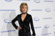 Actress Jane Fonda arrives at The Clinton Foundation's