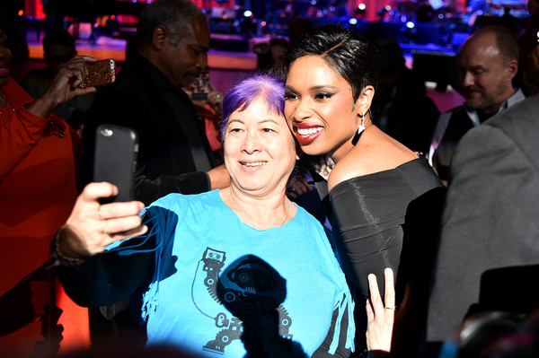 More Pics of Jennifer Hudson Slacks (1 of 60) - Pants & Shorts Lookbook - StyleBistro [clive davis: the soundtrack of our lives,event,fun,nightclub,party,photography,performance,leisure,magenta,disco,clive davis,audience member,jennifer hudson,selfie,radio city music hall,new york city,tribeca film festival,the soundtrack of our lives premiere concert,premiere concert]