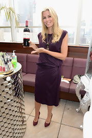 Aviva Drescher looked gorgeous wearing a satin wrap dress at Clos du Bois.