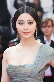 Fan Bingbing paired her Elie Saab gown with a sleek braided bun.