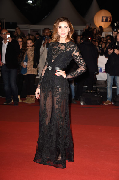 Clotilde Courau Sheer Dress [red carpet arrivals,red carpet,carpet,fashion model,clothing,dress,flooring,fashion,premiere,event,gown,december 13,clotilde courau,cannes,france,palais des festivals,nrj music awards]