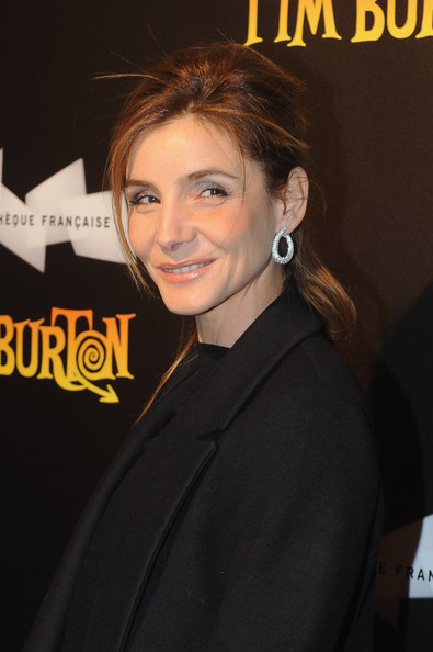 Clotilde Courau Diamond Hoops [tim burton - the exhibition launch cocktail,red carpet,hair,hairstyle,premiere,forehead,white-collar worker,smile,ear,clotilde courau,cinematheque,paris,france,launch cocktail]