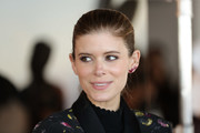 Kate Mara opted for a neat ponytail when she attended the Club Monaco presentation.