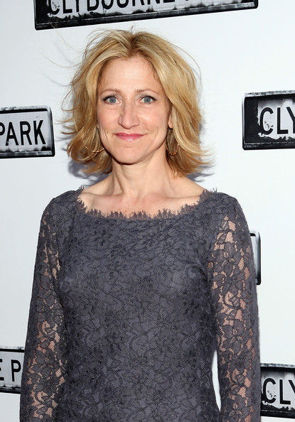 More Pics of Edie Falco Layered Razor Cut (1 of 6) - Edie Falco Lookbook - StyleBistro [hair,hairstyle,shoulder,premiere,blond,long hair,dress,eyelash,neck,brown hair,broadway opening night - arrivals,edie falco,curtain call,clybourne park,new york city,walter kerr theatre,broadway]