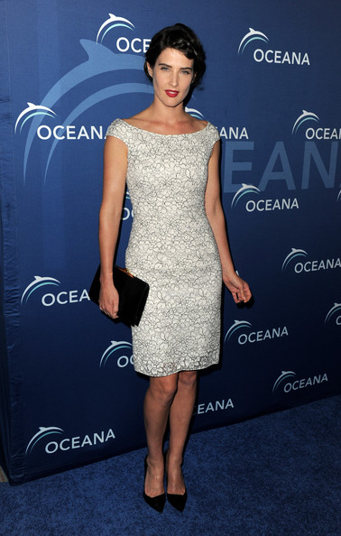 Cobie Smulders Off-the-Shoulder Dress