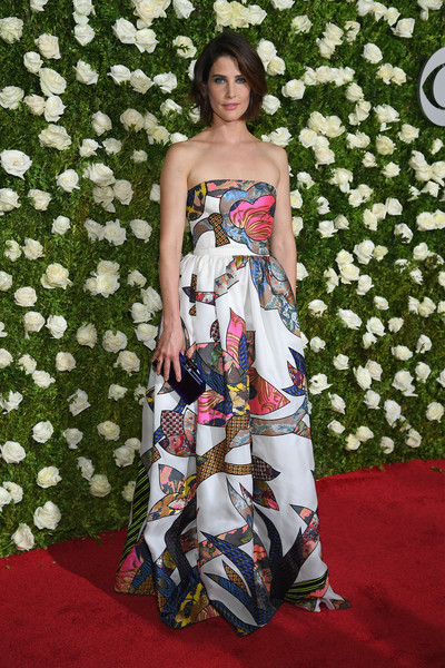Cobie Smulders Strapless Dress