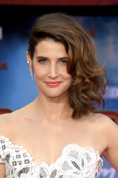 Cobie Smulders Medium Curls [hair,face,hairstyle,eyebrow,lip,blond,skin,beauty,chin,shoulder,arrivals,cobie smulders,spider-man far from home,tcl chinese theatre,california,hollywood,sony pictures,premiere,premiere]