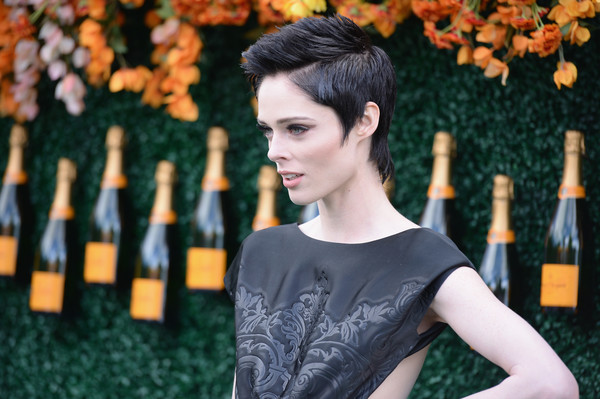 Coco Rocha Fauxhawk [hair,beauty,lip,fashion,hairstyle,orange,leaf,yellow,black hair,model,arrivals,coco rocha,jersey city,new jersey,liberty state park,veuve clicquot polo classic]