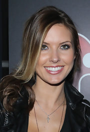 Audrina Patridge wore a pearly pink lipstick to the iHeartRadio benefit concert.