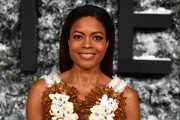 Naomie Harris wore her hair loose and straight at the European premiere of 'Collateral Beauty.'