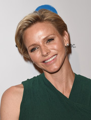 Charlene Wittstock was summer-chic with her short side-parted 'do at the Colleagues' Spring Luncheon.