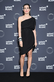 Charlotte Casiraghi cut a stylish figure in a one-shoulder LBD at the Montblanc dinner.