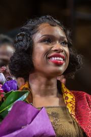 Jennifer Hudson sported a curled-out bob at the 'Color Purple' curtain call.