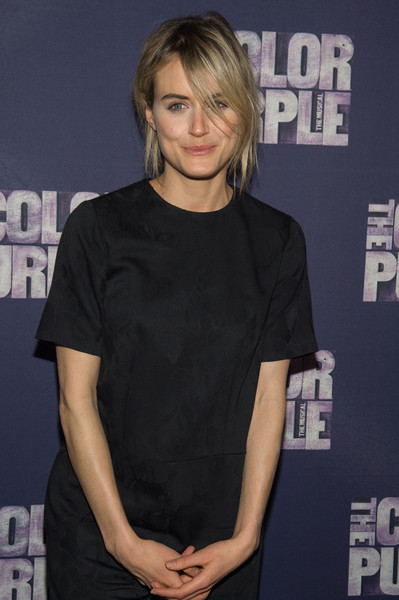 More Pics of Taylor Schilling Messy Updo (1 of 6) - Updos Lookbook - StyleBistro [the color purple,hair,hairstyle,premiere,chin,shoulder,blond,neck,dress,little black dress,long hair,taylor schilling,curtain call,new york city,the bernard b. jacobs theatre,broadway,broadway opening night - arrivals,opening night]