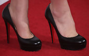 Danielle Fishel teetered in a chic pair of Christian Louboutin platform pumps at the TCA party.