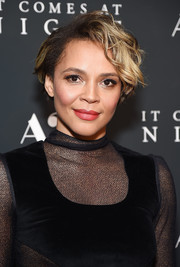 Carmen Ejogo attended the New York premiere of 'It Comes at Night' wearing a messy short 'do.