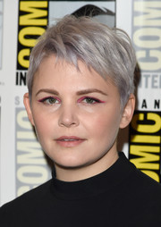 Ginnifer Goodwin updated her pixie with a silver dye job for the 'Once Upon a Time' panel at Comic-Con.
