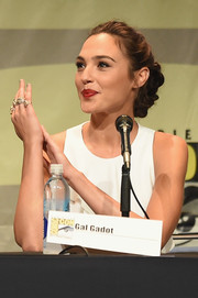 Gal Gadot got all blinged up with a load of stackable rings.