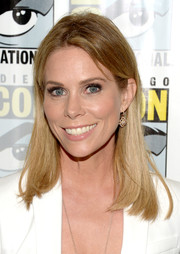 Cheryl Hines opted for a casual straight hairstyle when she attended Comic-Con International 2016.