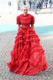 Grace Chatto wowed in a red ruffle gown by Dolce & Gabbana at Commonwealth Day 2019.