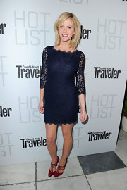 Brooklyn Decker sizzled in red Buckled T-strap pumps.