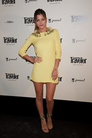 Malena Costa attended Conde Nast Traveller Awards wearing a simple quarter-sleeved mini dress.