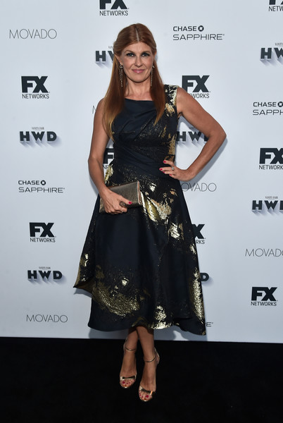 Connie Britton Metallic Clutch