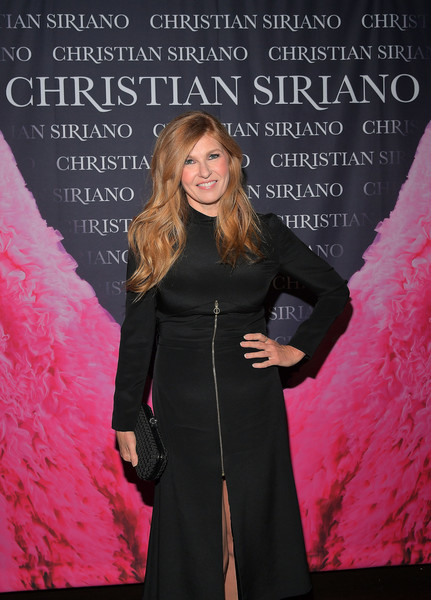 Connie Britton Woven Clutch [dresses to dream about,book,book,pink,fashion,premiere,event,carpet,dress,flooring,fashion design,formal wear,haute couture,christian siriano,connie britton,los angeles,chateau marmont,christian siriano celebrates the launch of his,celebration,launch]