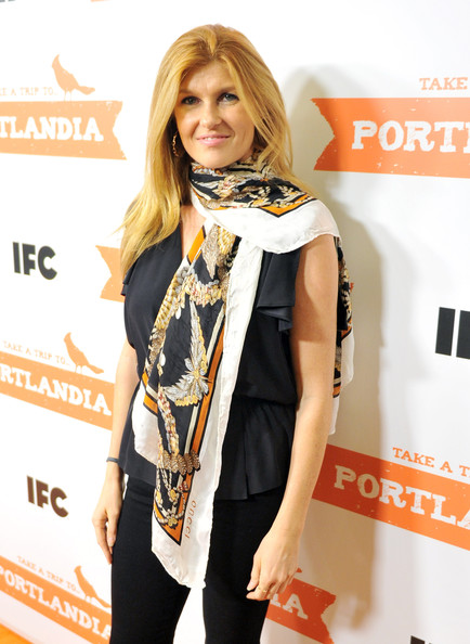 Connie Britton Patterned Scarf