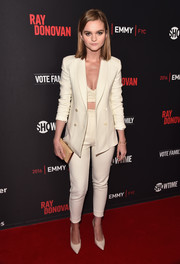 Kerris Dorsey was sleek and sexy in a cream-colored pantsuit teamed with a bra top at the 'Ray Donovan' screening.