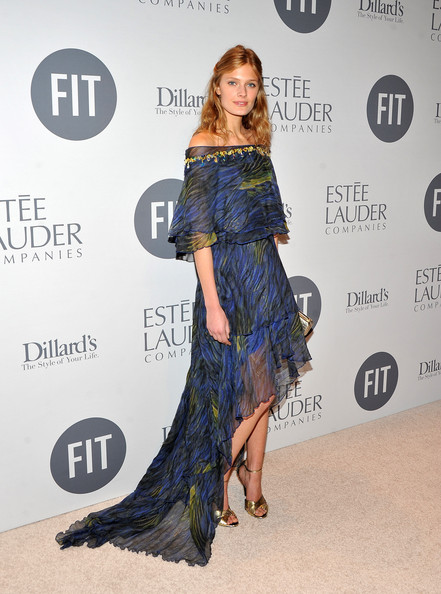 Constance Jablonski Off-the-Shoulder Dress