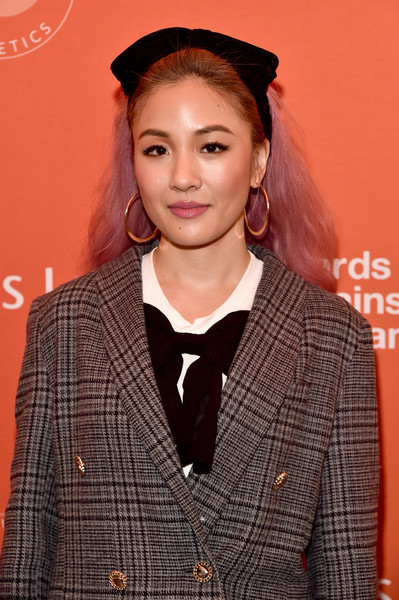 Constance Wu Headband [emilys list pre-oscars brunch and panel,hair,hairstyle,outerwear,premiere,long hair,blazer,smile,constance wu,los angeles,california,emilys list pre-oscars brunch and panel]