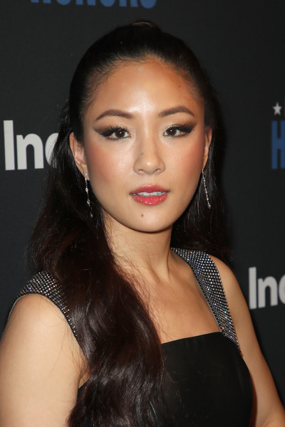 Constance Wu Half Up Half Down [hair,face,hairstyle,eyebrow,lip,beauty,chin,cheek,black hair,long hair,indiewire honors 2018,no name,los angeles,california,constance wu]