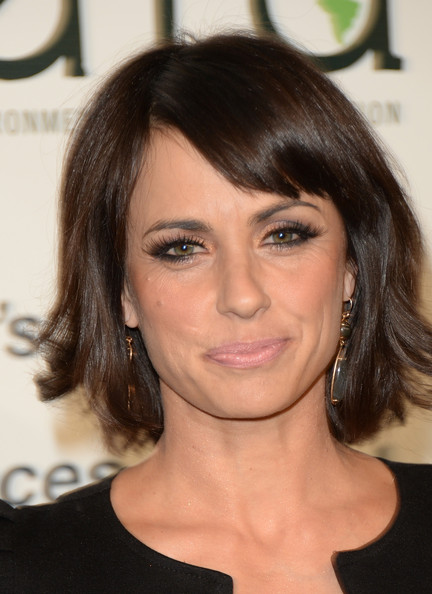 Constance Zimmer Bob [hair,face,hairstyle,eyebrow,chin,brown hair,forehead,blond,lip,shoulder,lexus - green carpet,constance zimmer,annual environmental media awards,burbank,california,toyota,lexus,warner bros. studios]