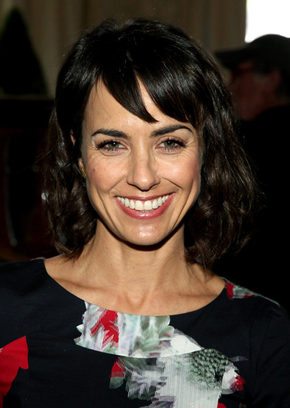 Constance Zimmer Curled Out Bob [hair,hairstyle,face,bangs,eyebrow,chin,beauty,smile,lip,black hair,constance zimmer,power of women presented by lifetime - roaming inside,variety power of women,california,los angeles,lifetime,beverly wilshire four seasons]