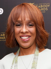 Gayle King attended an HBO event wearing a feathery bob with wispy bangs.