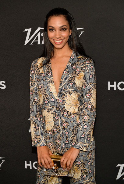 Corinne Foxx Hard Case Clutch [clothing,fashion model,dress,fashion,hairstyle,fashion design,formal wear,neck,premiere,long hair,corinne foxx,annual power of young hollywood - arrivals,power,young hollywood,west hollywood,california,sunset tower hotel,variety]