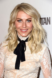 Julianne Hough looked fabulous with her piecey waves during Cosmopolitan's 50th birthday celebration.